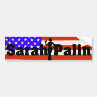 Pegatina para el parachoques de la bandera de Sara Pegatina Para Auto