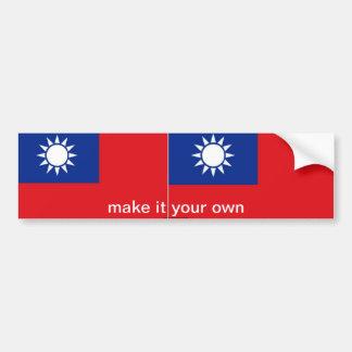 Pegatina para el parachoques de la bandera de Taiw Pegatina Para Auto