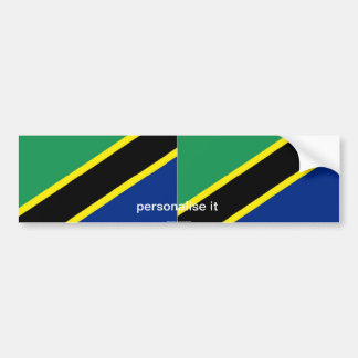 Pegatina para el parachoques de la bandera de Tanz Pegatina Para Auto