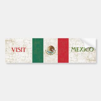 Pegatina para el parachoques de la BANDERA MEXICAN Pegatina Para Auto