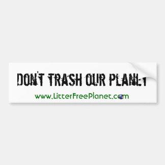 Pegatina para el parachoques de la basura pegatina para auto