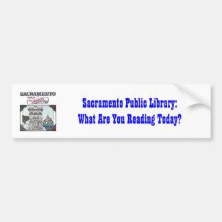 Pegatina para el parachoques de la biblioteca públ pegatina para auto