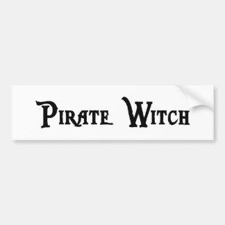 Pegatina para el parachoques de la bruja del pirat pegatina para auto