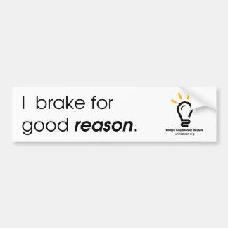 Pegatina para el parachoques de la buena razón del pegatina para auto