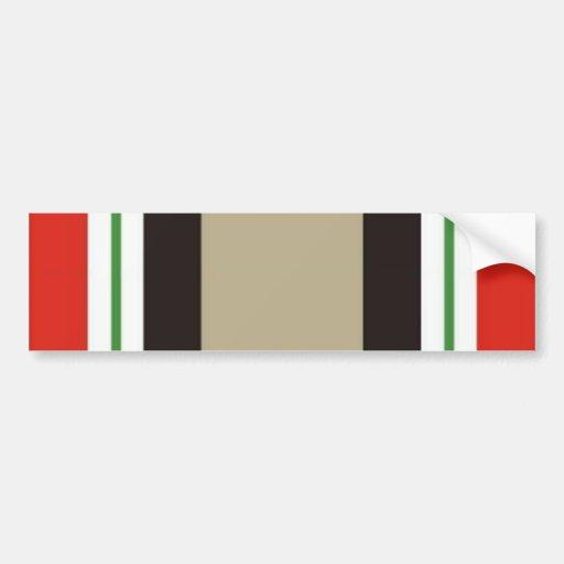 Pegatina para el parachoques de la campaña de Iraq Etiqueta De Parachoque
