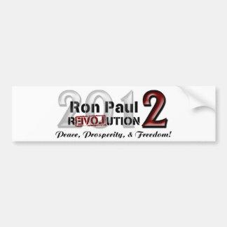 Pegatina para el parachoques de la campaña de Ron Pegatina Para Auto
