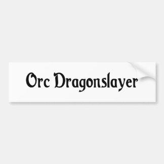 Pegatina para el parachoques de la capa de Orc Etiqueta De Parachoque