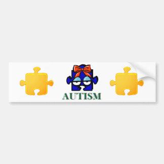 Pegatina para el parachoques de la cara del autism pegatina para auto