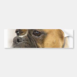 Pegatina para el parachoques de la cara del perro  pegatina para auto