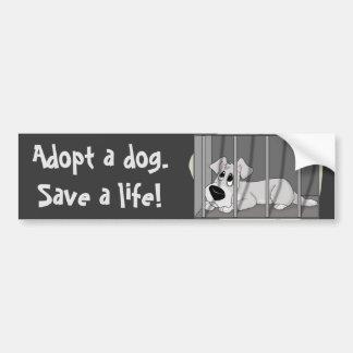 Pegatina para el parachoques de la cárcel del perr pegatina de parachoque