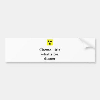 Pegatina para el parachoques de la cena de Chemo Etiqueta De Parachoque