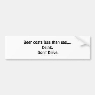 Pegatina para el parachoques de la cerveza pegatina para auto
