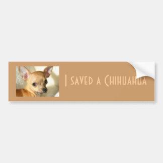 Pegatina para el parachoques de la chihuahua etiqueta de parachoque