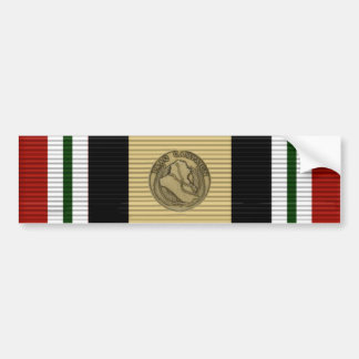 Pegatina para el parachoques de la cinta de Iraq Pegatina Para Auto