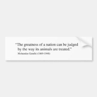 Pegatina para el parachoques de la cita de Gandhi Pegatina Para Auto