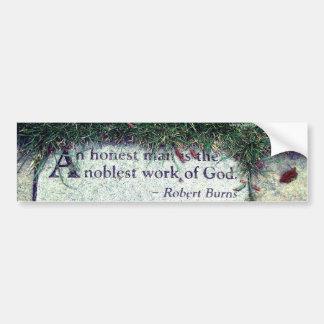 Pegatina para el parachoques de la cita de Robert  Pegatina Para Auto