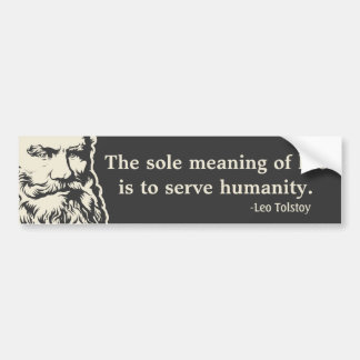 Pegatina para el parachoques de la cita de Tolstoy Pegatina Para Auto
