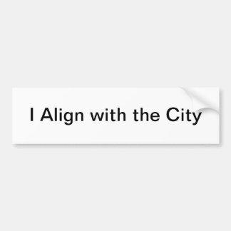 pegatina para el parachoques de la ciudad pegatina de parachoque