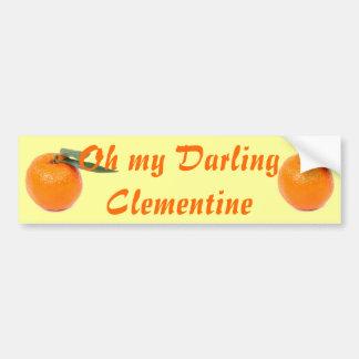 pegatina para el parachoques de la clementina pegatina para auto