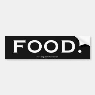 """Pegatina para el parachoques de la """"comida"""" pegatina para auto"""