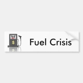 Pegatina para el parachoques de la crisis del pegatina para auto