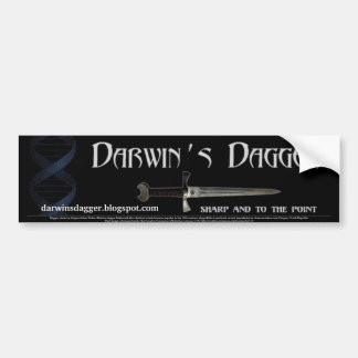 Pegatina para el parachoques de la daga de Darwin Etiqueta De Parachoque