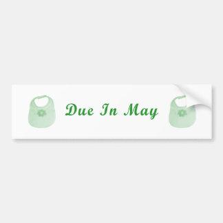 Pegatina para el parachoques de la deuda en mayo pegatina para auto