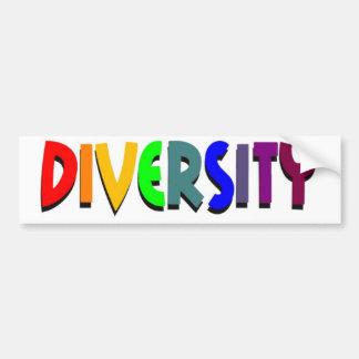 Pegatina para el parachoques de la diversidad pegatina para auto