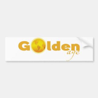 Pegatina para el parachoques de la época dorada pegatina para auto