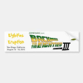 Pegatina para el parachoques de la erupción III de Etiqueta De Parachoque