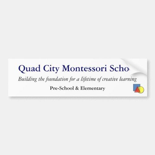 Pegatina para el parachoques de la escuela de QCMS Etiqueta De Parachoque
