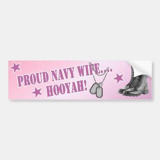 Pegatina para el parachoques de la esposa de la ma etiqueta de parachoque