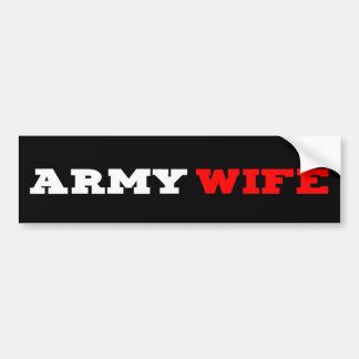Pegatina para el parachoques de la esposa del ejér etiqueta de parachoque