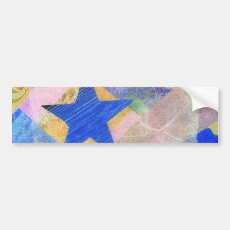 Pegatina para el parachoques de la estrella azul etiqueta de parachoque