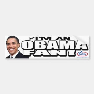 Pegatina para el parachoques de la fan de Obama Pegatina Para Auto