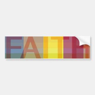 Pegatina para el parachoques de la fe etiqueta de parachoque