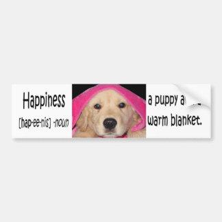 """Pegatina para el parachoques de la """"felicidad"""" etiqueta de parachoque"""