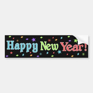 Pegatina para el parachoques de la Feliz Año Nuevo Etiqueta De Parachoque