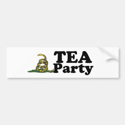 Pegatina para el parachoques de la fiesta del té pegatina de parachoque