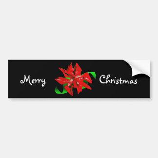 Pegatina para el parachoques de la flor del navida pegatina de parachoque