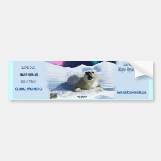 Pegatina para el parachoques de la foca de Groenla Pegatina Para Auto