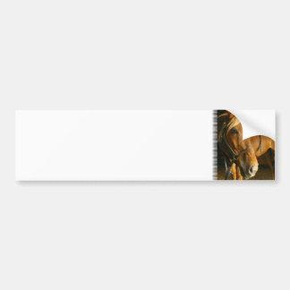 Pegatina para el parachoques de la foto del caball etiqueta de parachoque