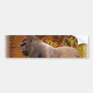 Pegatina para el parachoques de la foto del gorila etiqueta de parachoque