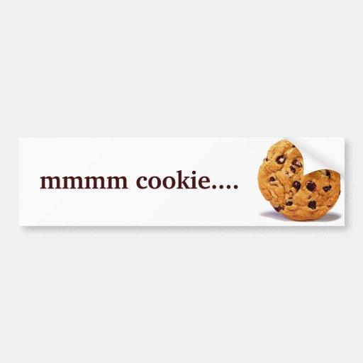 pegatina para el parachoques de la galleta mmmm… etiqueta de parachoque