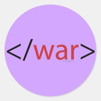 Pegatina para el parachoques de la guerra del