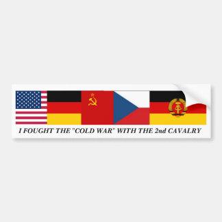 Pegatina para el parachoques de la guerra fría pegatina para auto