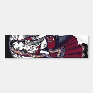 Pegatina para el parachoques de la hada de la sari pegatina de parachoque