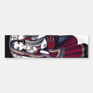 Pegatina para el parachoques de la hada de la sari pegatina para auto