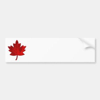 Pegatina para el parachoques de la hoja del Canadá Pegatina De Parachoque
