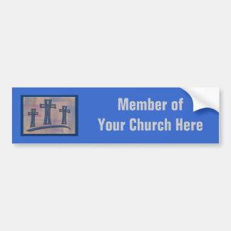 Pegatina para el parachoques de la iglesia pegatina para auto